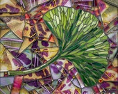 Ginkgo leaf Mosaic 11x14 - Matted Giclée Fine Art Print