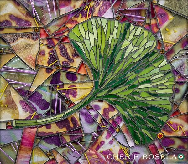 Ginkgo Leaf Mosaic 11x14 Matted Gicl 233 E Fine Art Print