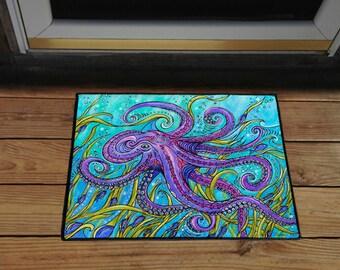 """Octopus 18"""" x 24"""" Door Mat, Floor Mat, Home Decor"""