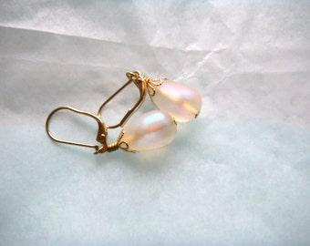 Czech Luster Drop Earrings