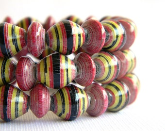 Paper Bead Jewelry - Bracelets - 7.5 inches - Set of 3 - #570