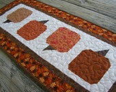 Quilted Fall Pumpkin Runner 17 1/2 x 40 inches