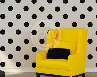 "Vinyl Dots Decals 4""  set of 48 YOU CHOOSE COLOR Vinyl Polka Dot circle decal sticker wall art lettering"