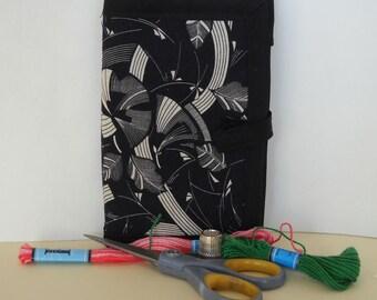 Woodcut Needle Book, Needle Case, Hand Sewing Organizer