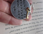 Home Is Wherever You Are - Hand Stamped Key Chain