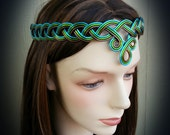 BRAIDED Celtic Circlet Hand Wire Wrapped - Choose Your Own COLORS - Crown Tiara