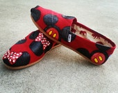 Custom Minnie &/or Mickey Mouse Disney Shoes! Vans or Toms! Choose a color! (ADULT SHOES) Childrens Sizes Available