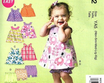 BABY CLOTHES PATTERN / Make Baby Girl Dress - Top - Bloomers - Pants / Newborn to Extra Large