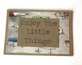 Enjoy The Little Things Card, Handmade Card, For Him, Funny Card For Him, Enjoy The Little Things Card