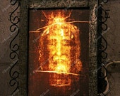 Photo of Exhibit Devoted to the Shroud of Turin at Sacre Coeur, Montmartre Paris, France Fine Art Photography Print