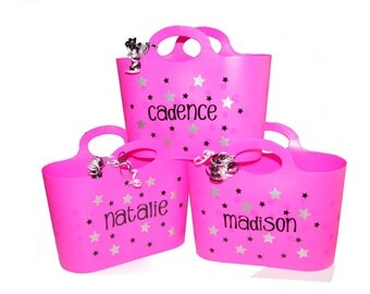 Personalized Bubble Tote / Gift Basket / Beach Bag