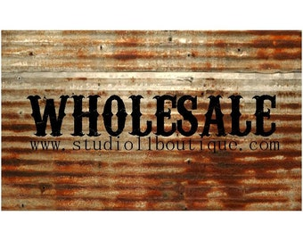 Kansas Barn Tin Letters 15inch Wholesale Starter Pack Resale Retail Marquee Monogram Home Decor