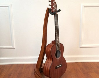 Ukulele or Mandolin Stand in classic woods.