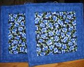 Blueberry Pot Holders - Set of 2