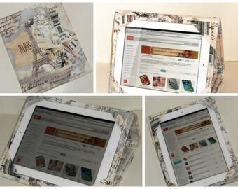 iPad Cover Hardcover, iPad Case, iPad Air Case, iPad Air Sleeve, iPad 2, iPad 4, iPad 5 Twilight Paris, Ready to Ship