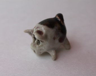 Handmade Ceramic PIG miniature collectible figurine