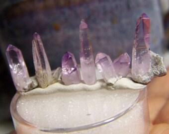 1 Vera Cruz Amethyst crystal - you choose size  - gemmy - small amethyst crystal - wire wrap jewelry light purple lavender - coyoterainbow
