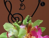 Music Note  Heart Cake topper with initial  Wedding Cake or Musical Themed Event
