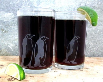 Emperor Penguins | Etched Tumbler Glass
