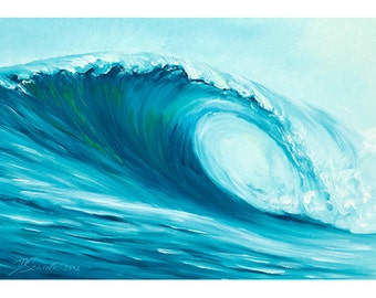 5x7 Greeting Card by Daina Scarola, Item #GC5X7-12 (surf art, wave, ocean, beach)