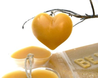 Beeswax Heart Ornaments, DIY Waldorf Spring Craft, Make these lovely golden hearts