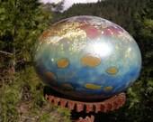 Flat Glass Balloon multi-color fumed iridized garden art