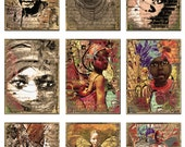 A.T.C/ women of colour/ A4/ DiGiTaL CoLLaGe sheet/instant download