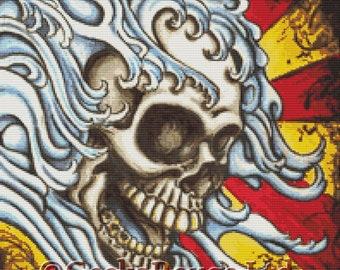 Modern cross stitch by Shayne of the Dead 'Flow' cross stitch kit