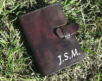 Personalized Hand dyed Credit Card Wallet Wwith 6 Pockets For Credit Cards - FREE Shippng Worldwide - Leather Credit Card Holder