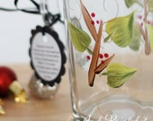 Holiday berry and twig mug that is hand painted.  FREE personalization, dishwasher and microwave safe.