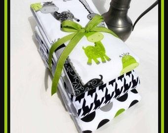 Dino Baby Burping Accessories, Baby Bath and Beauty Accessories, Baby Shower Gift Set, Gender Neutral, Giraffe Diaper Burp Cloth, Unisex