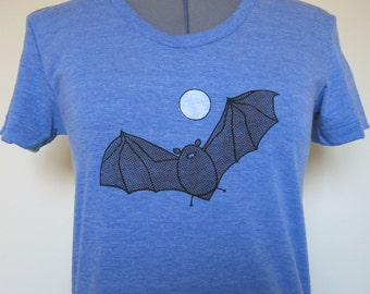 Fruit Bat Womens Shirt Vintage Blue