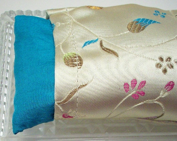 Eye Pillow - Lavender or Unscented in a Delicate Floral Brocade - Bath and Beauty
