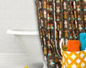 Shower Curtain , Cotton Shower Curtain , Bath Décor , Ready To Ship