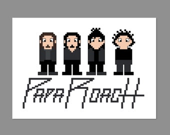Papa Roach Pixel People Character Cross Stitch PDF PATTERN ONLY