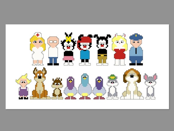 Animaniacs Pixel People Character Cross Stitch by ...