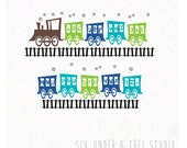 ABC Train Wall Vinyl Decals Art Graphics Stickers
