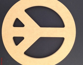 """24"""" Peace Sign made out of 1/2 inch MDF. 6-8 A"""