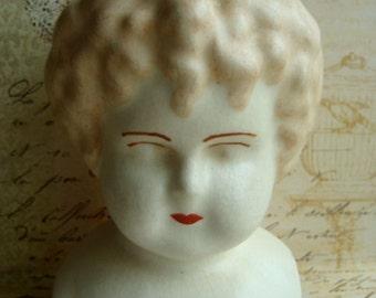 Large Antique  Bisque Shoulder Doll Head/ Bust