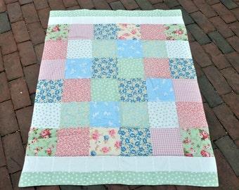 New Baby Girl Quilt Blanket Nursery Bedding Gift