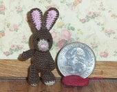 Micro Bunny Rabbit 1 1/2 inch  Baby Bunny Thread Artist Crochet Ready to Ship