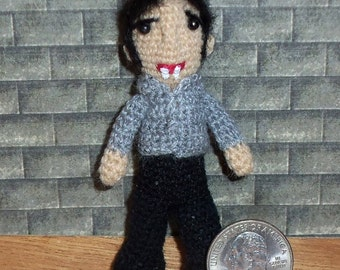 "Bill Compton Doll  3""  True Blood Vampire"