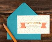 Happy Birthday Sprinkles Enclosure Gift Card