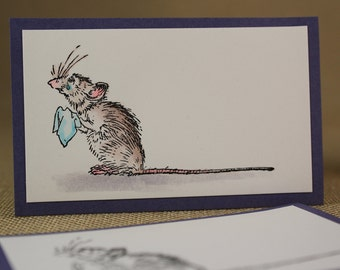 LITTLE RAT with tears  - wood mounted rubber stamp(MCRS 20-32)