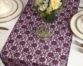 Plum Lace Wedding Table Runner