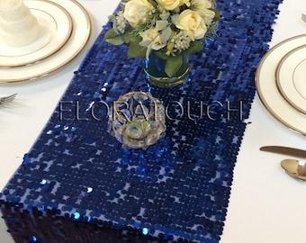 Royal Blue Sequin Table Runner Wedding Table Runner