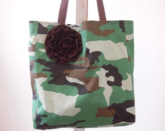 Green Camo Tote Lollibag