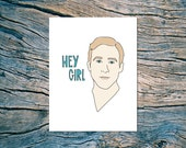 CLEARANCE SALE! - Hey Girl - A2 folded note card & envelope - SKU 190