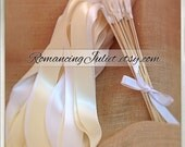 Instead of Rice Bamboo Dual Color Jumbo Ribbon Streamer Sticks..PACK OF 50...You choose the Ribbon Colors..shown in white/ivory