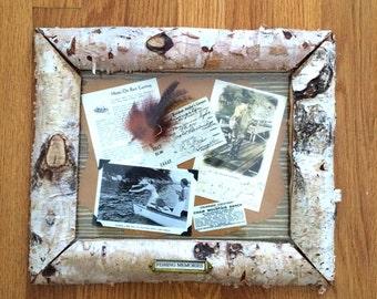 Birch Bark Framed Fishing Memorabilia II